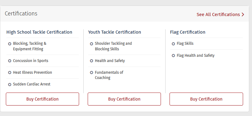 How do I get Certified? – WELCOME TO USA FOOTBALL\'S HELP DESK